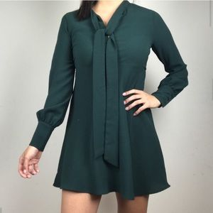 Beautiful forest green Zara dress 🌲